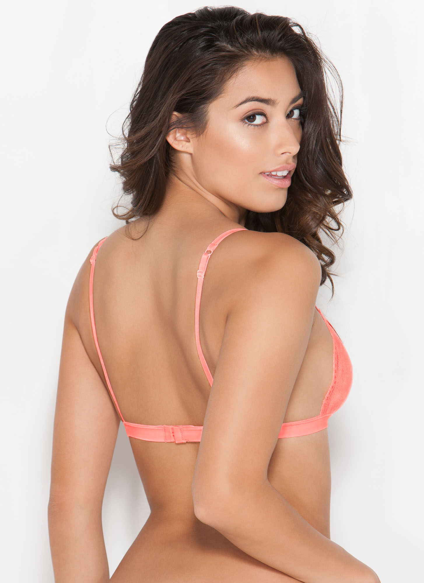 Lovely Lady Lace Bralette NEONCORAL