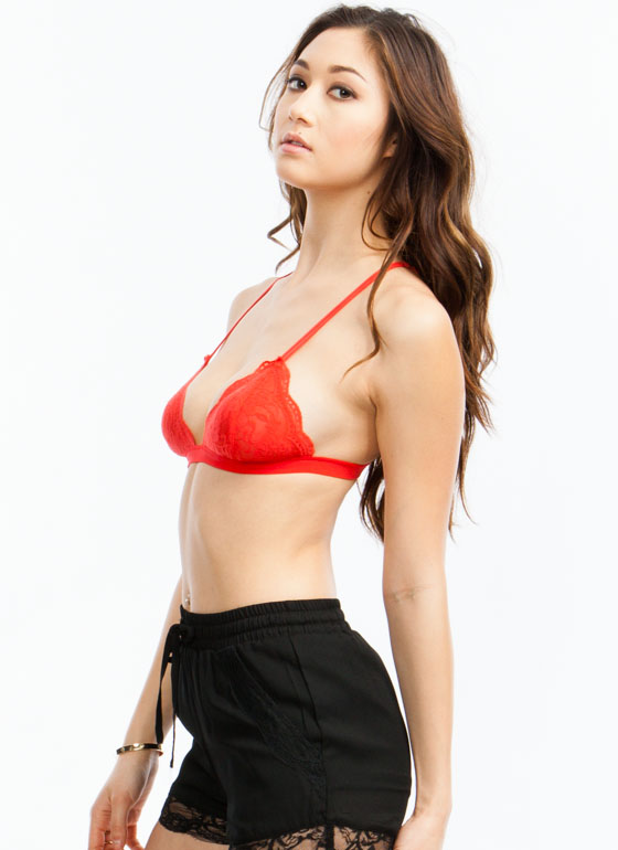 Lace Bralette POPPYRED