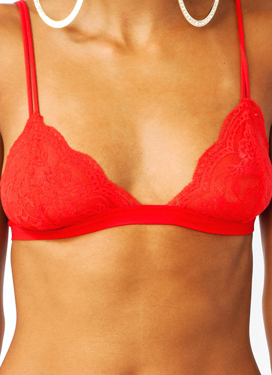 Lace Bralette RED