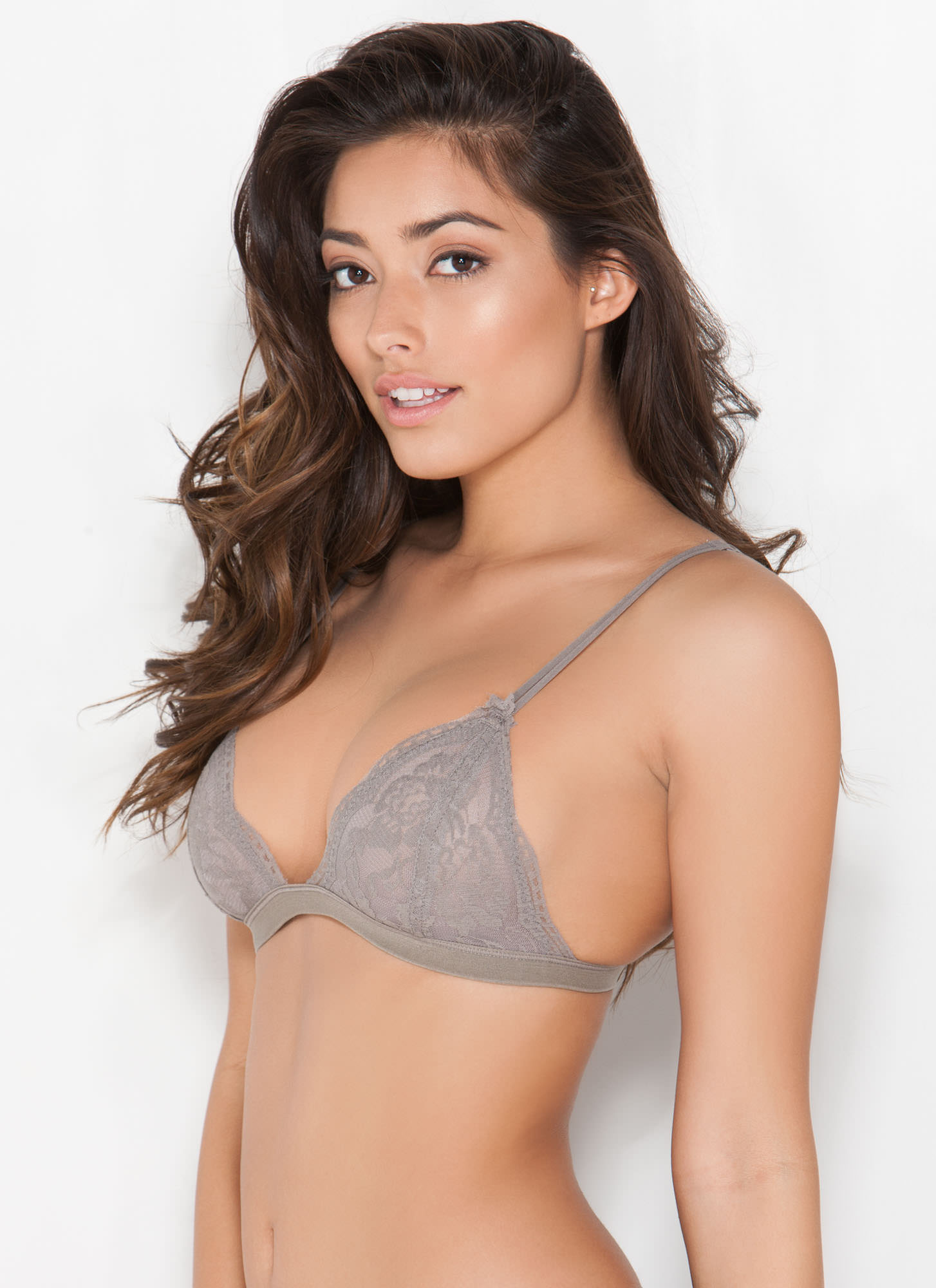 Lace Bralette TAUPE