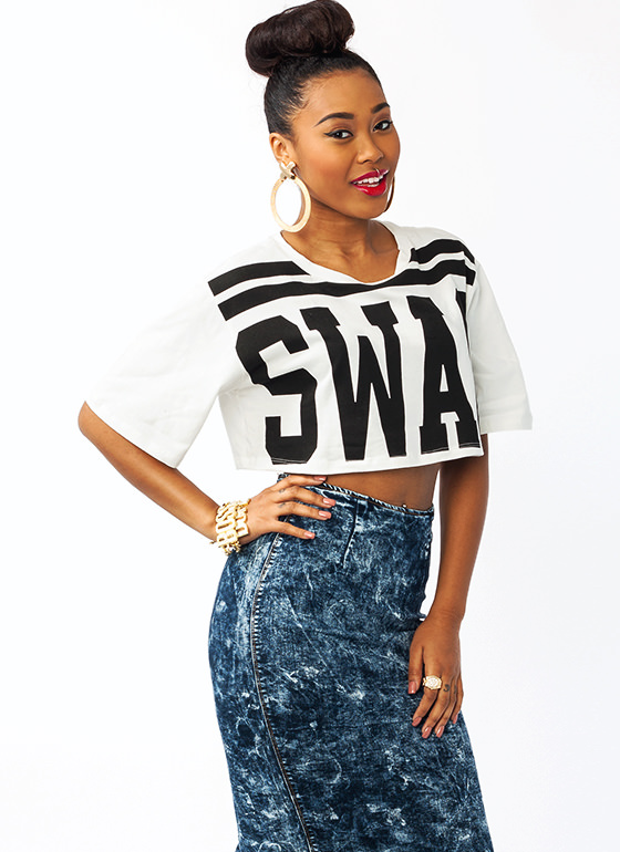 Swagger Jagger Cropped Tee OFFWHITE
