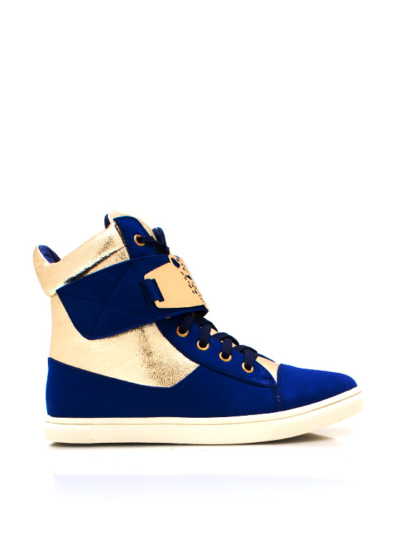 Hear Me Roar Metallic Sneakers BLUE