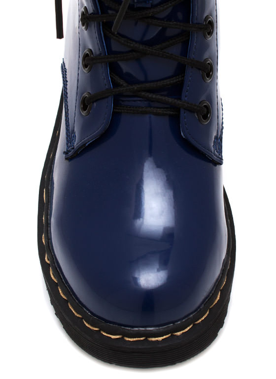 In Full Combat Boots BLUE