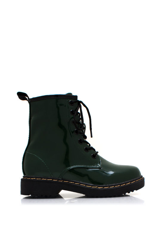 In Full Combat Boots GREEN
