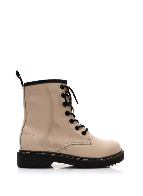 In Full Combat Boots TAUPE