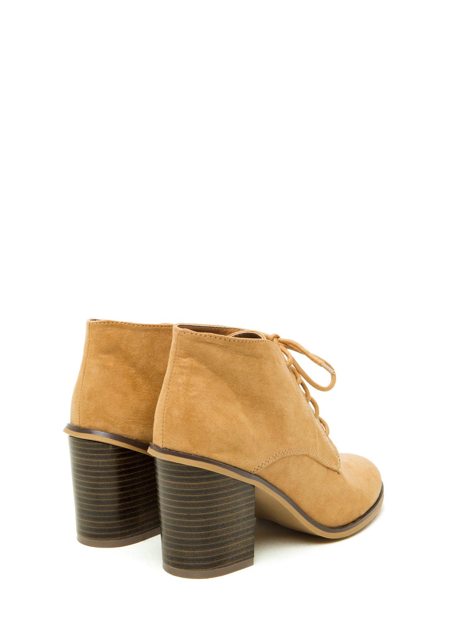 Stompin' Faux Suede Chunky Booties TOFFEE