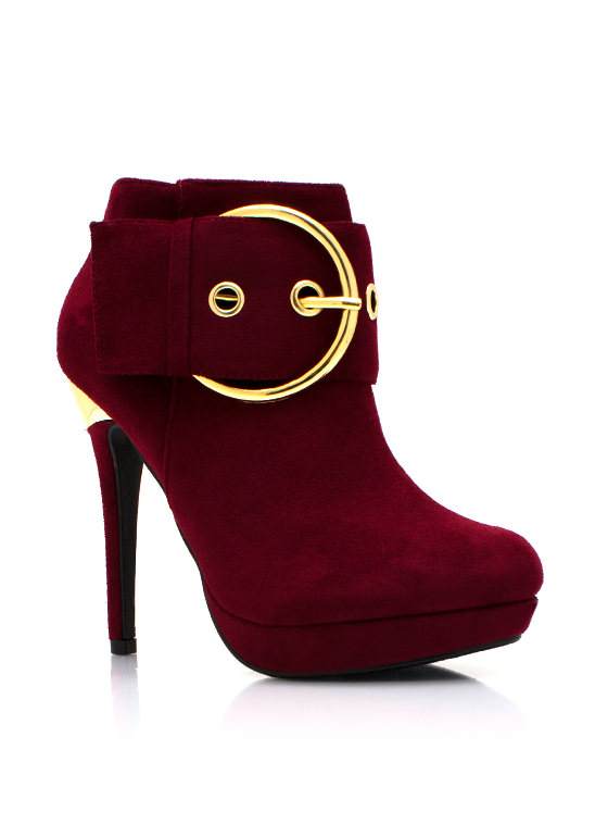 Buckle Upgrade Booties DKBURGUNDY