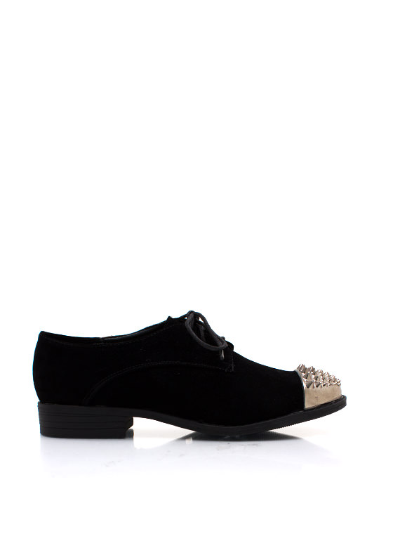 Front Runner Spiked Nubuck Oxfords BLACK