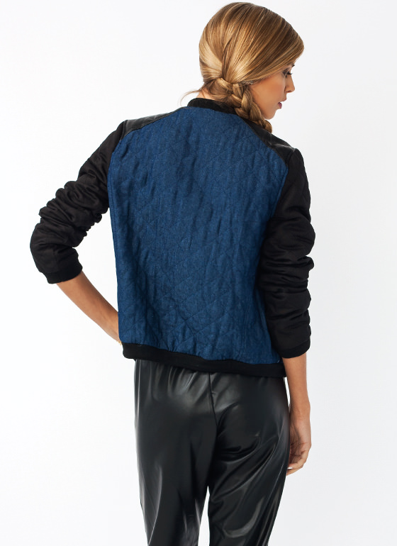 Quilty Conscience Contrast Jacket BLACKBLUE