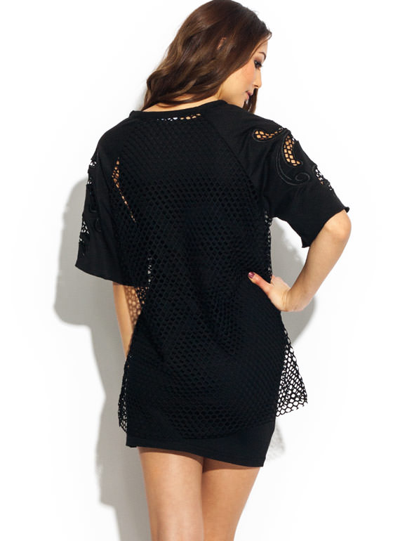 Net Hing To Worry About Shift Dress BLACK