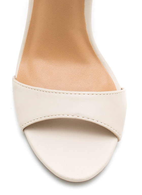 Lace Me Up Butterfly Heels NUDE