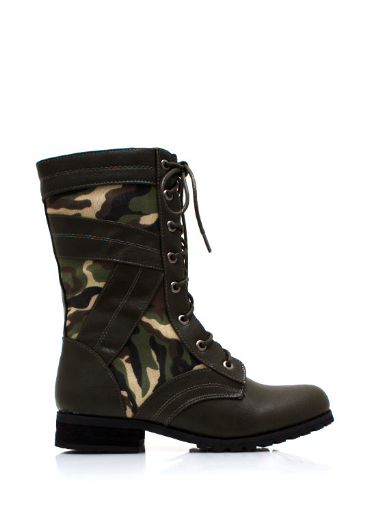 In Combat Boots GREEN