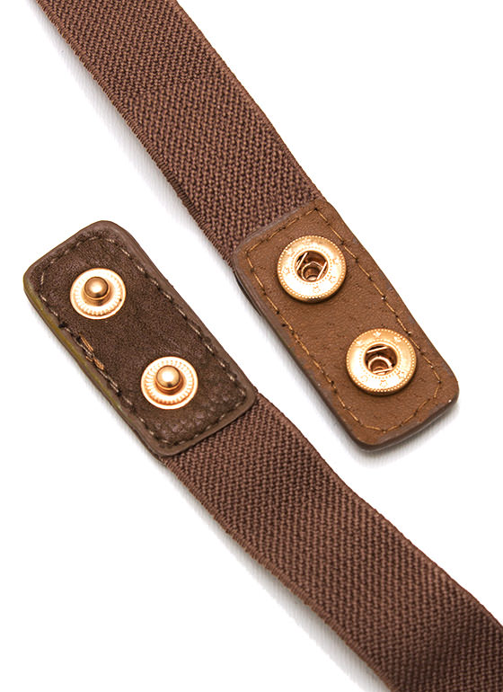 Off The Chain Stretch Belt BROWNGOLD