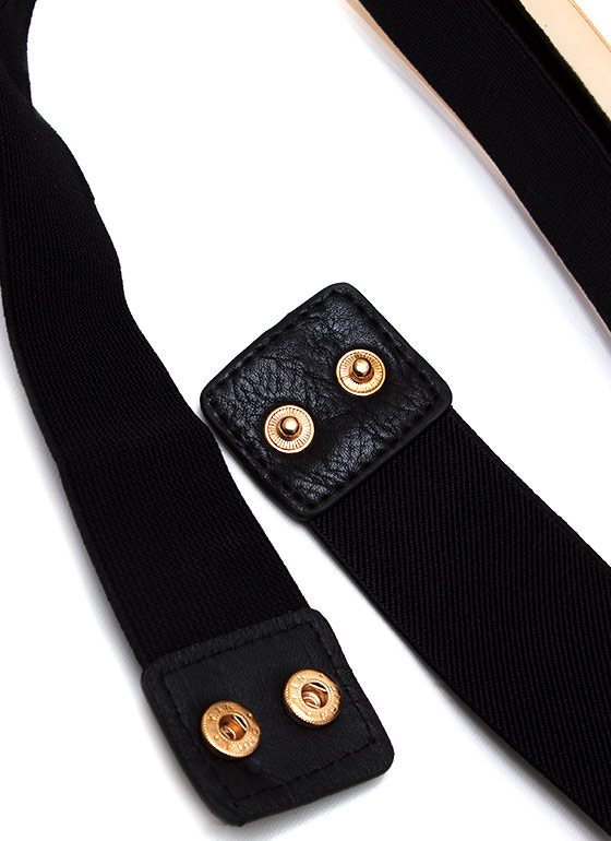 Fancy Pants Plate Belt BLACKGOLD