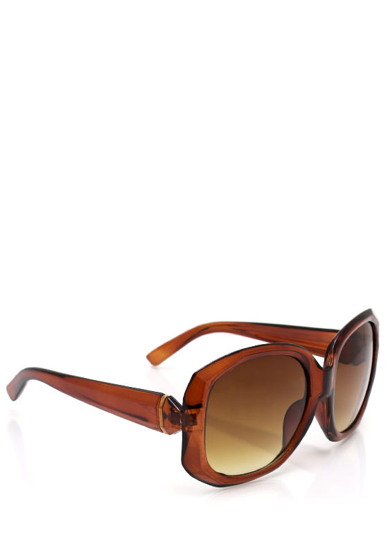 Too Faceted Sunglasses BROWNGOLD