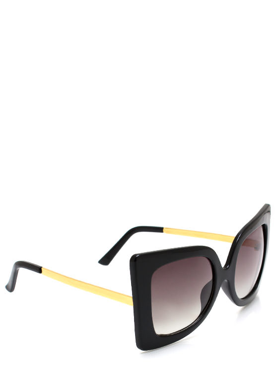 Cool Cat Eye Sunglasses BLACKGOLD