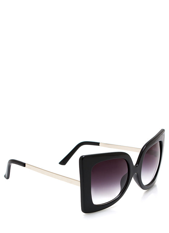 Cool Cat Eye Sunglasses BLACKSILVER