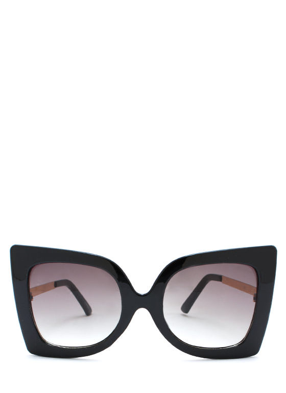 Cool Cat Eye Sunglasses GOLDOLIVE
