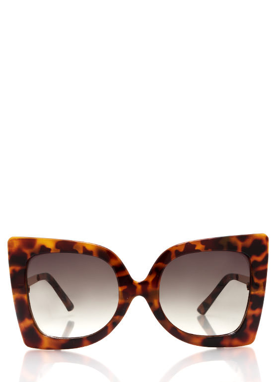 Cool Cat Eye Sunglasses TORTOLIVE