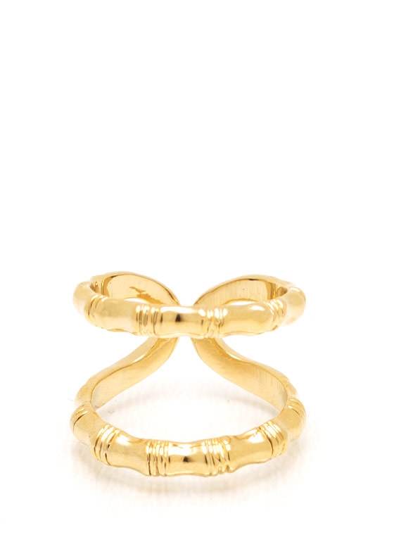 Double The Fun Textured Ring GOLD