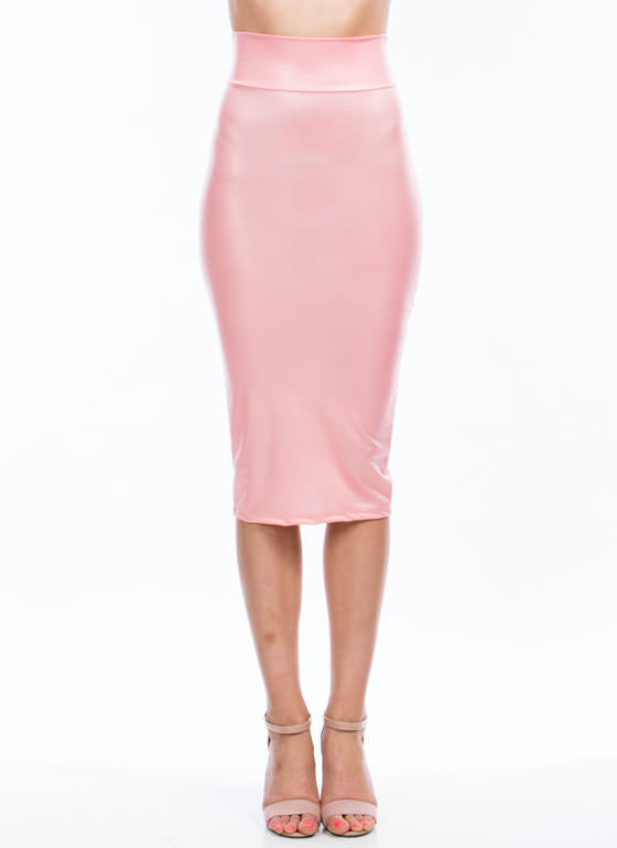 In High Gear Midi Skirt CORAL