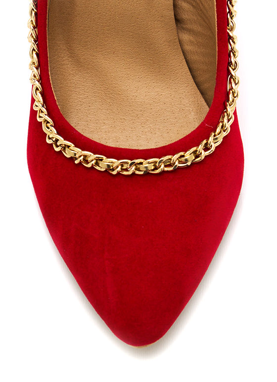 Off The Chain Pointy Pumps RED