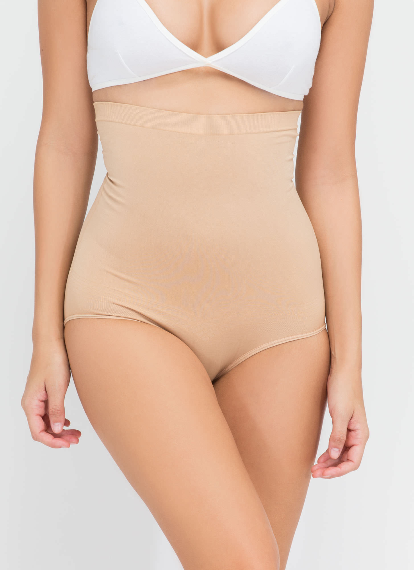High-Waisted Tummy Control Panty BEIGE (Final Sale)