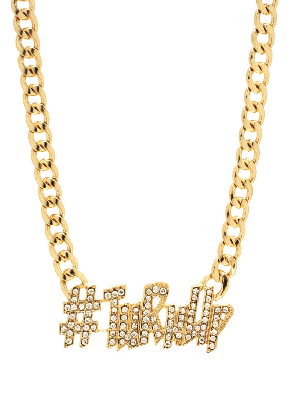 Turn Up Necklace GOLD