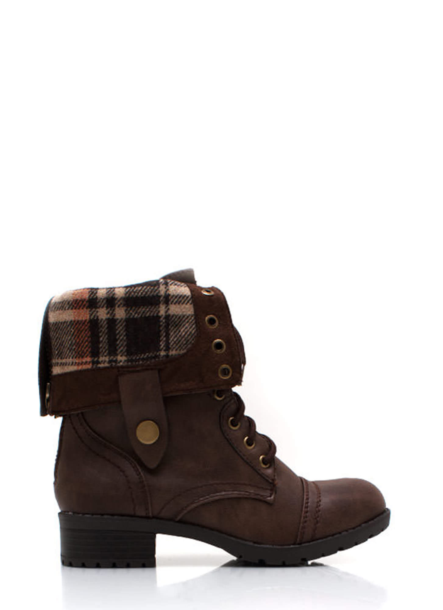 Keep Tabs Combat Boots BROWN