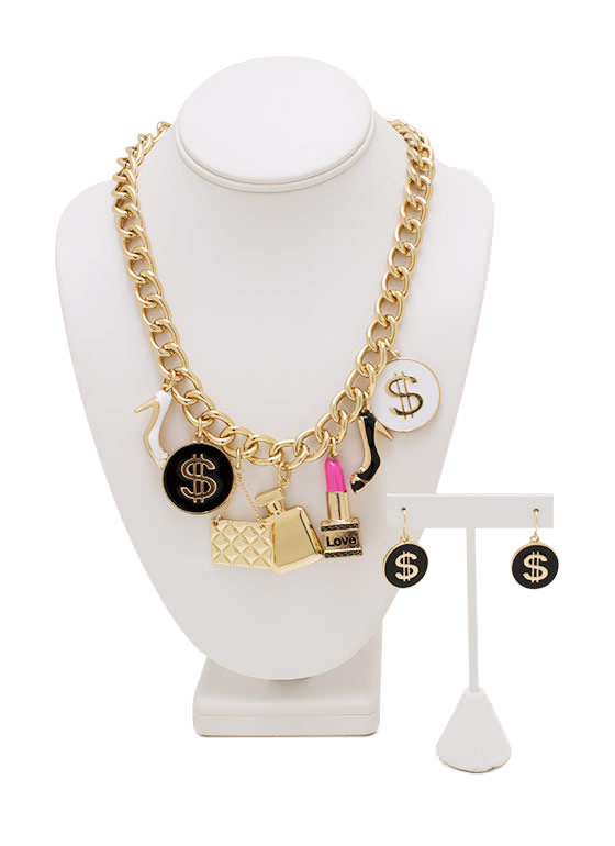 Go Getter Girl Necklace Set GOLDMULTI