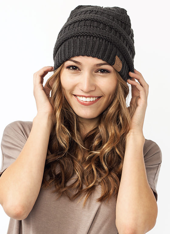 CC Cable Kit Beanie CHARCOAL