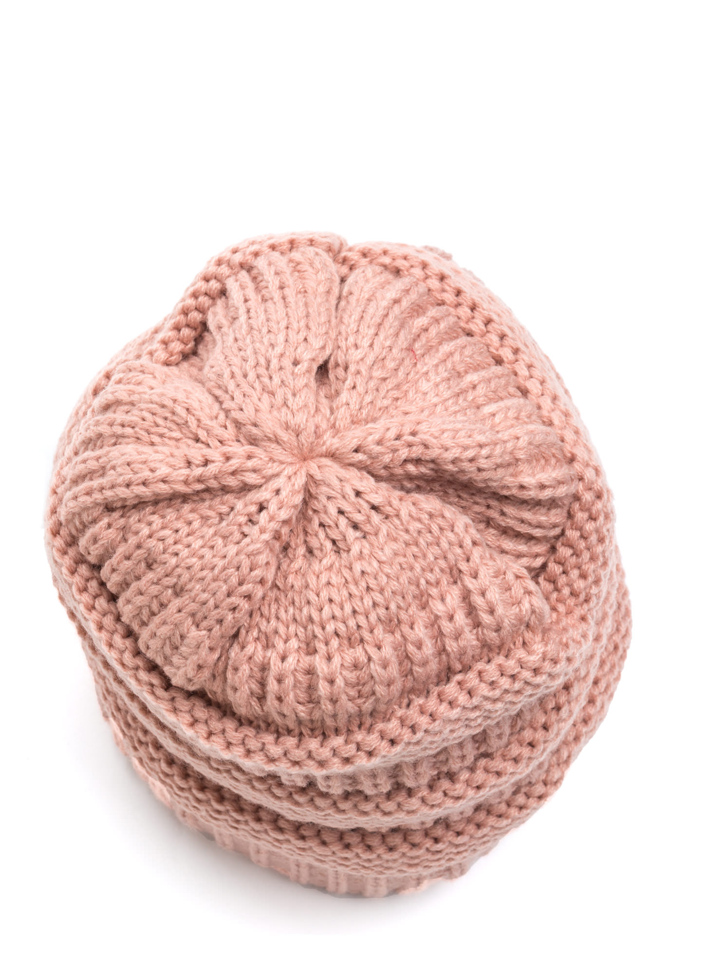 Cozy CC Cable Knit Beanie MAUVE (Final Sale)