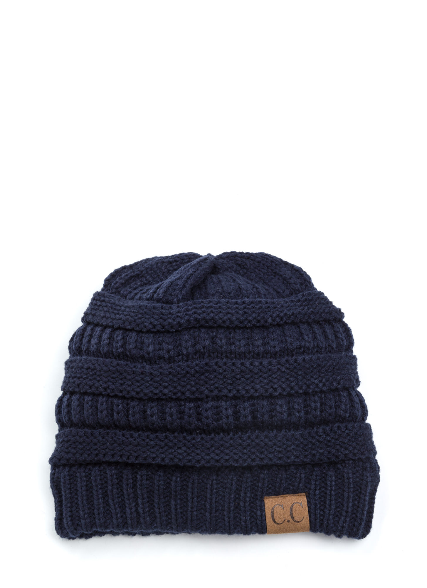 CC Cable Knit Beanie NAVY