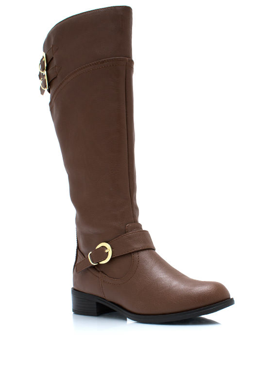 Buckle Down Two Tone Boots TAN (Final Sale)