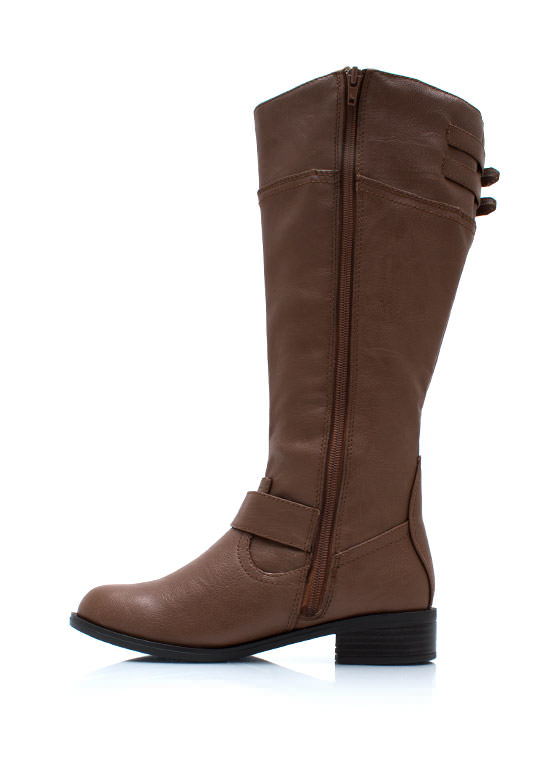 Buckle Down Two Tone Boots TAN