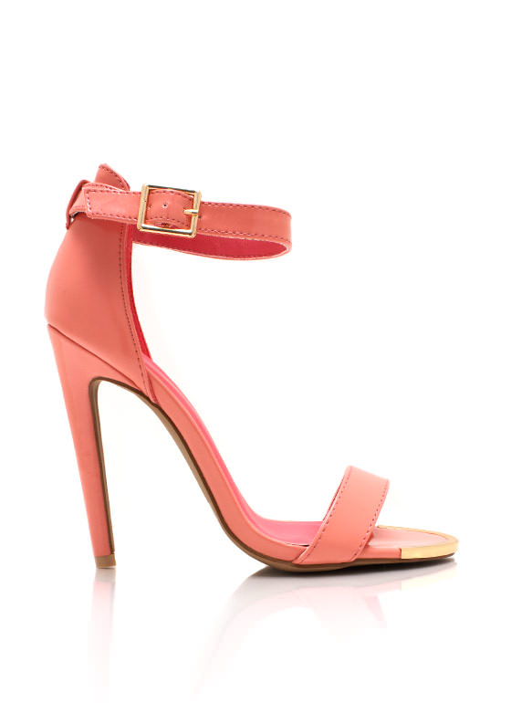 Sweet N Simple Strappy Heels SALMON