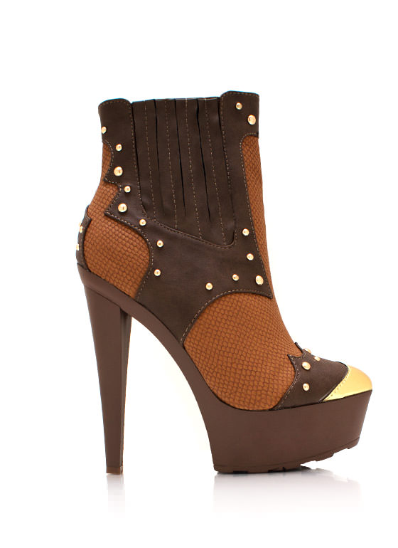 Cowgirl Up Booties BROWN
