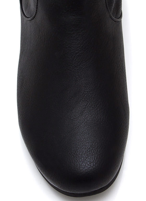 Do Slouch Faux Leather Boots BLACK
