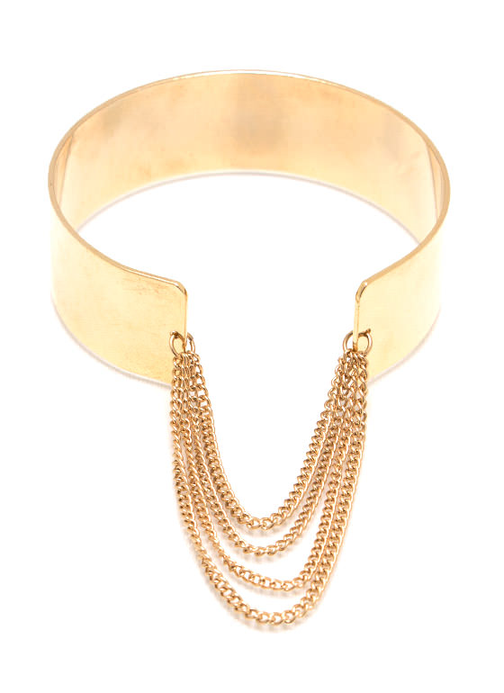 Never Fear Chain Ge Cuff GOLD
