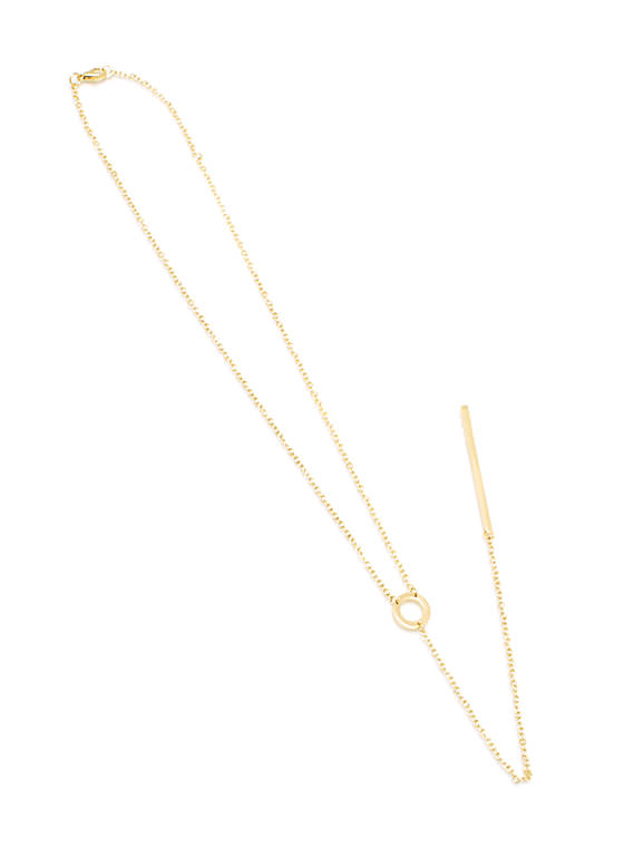 Barred From The Circle Necklace GOLD