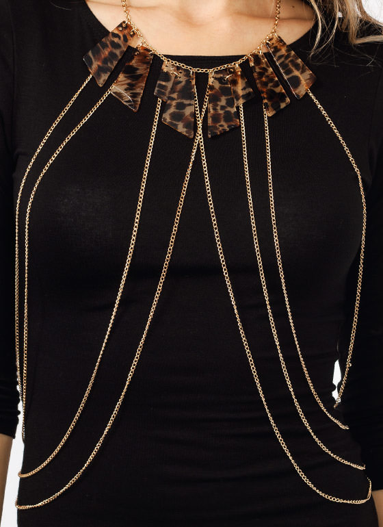 Feline Wild Body Chain GOLDBROWN