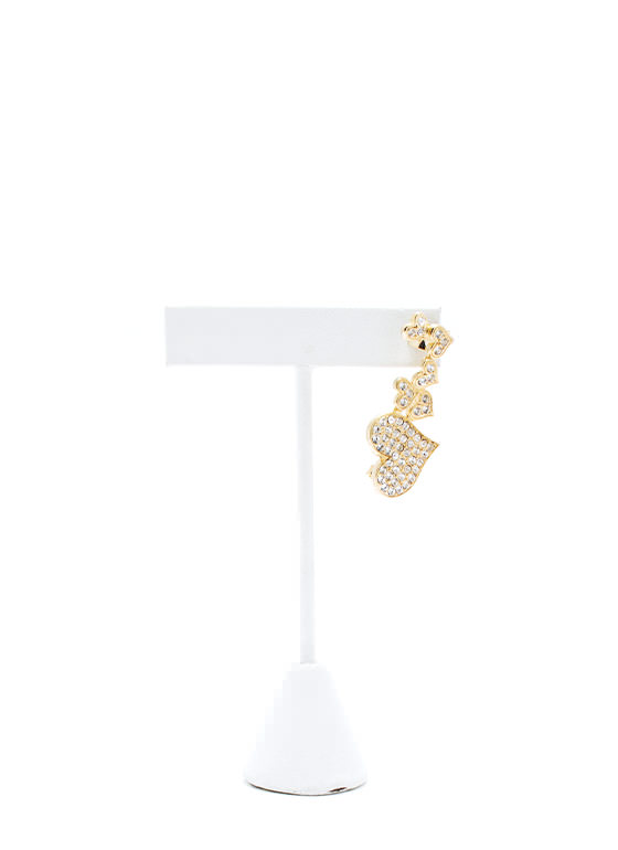 Heart To Hearts Ear Cuff GOLD