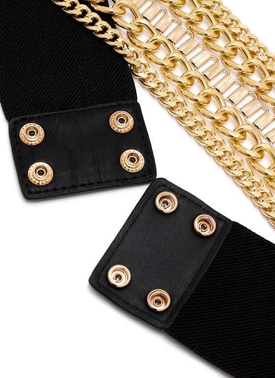 Gang Of Chains Stretch Belt GOLDBLACK