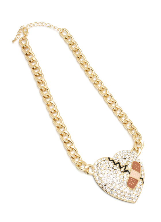 Fix My Broken Heart Necklace GOLD