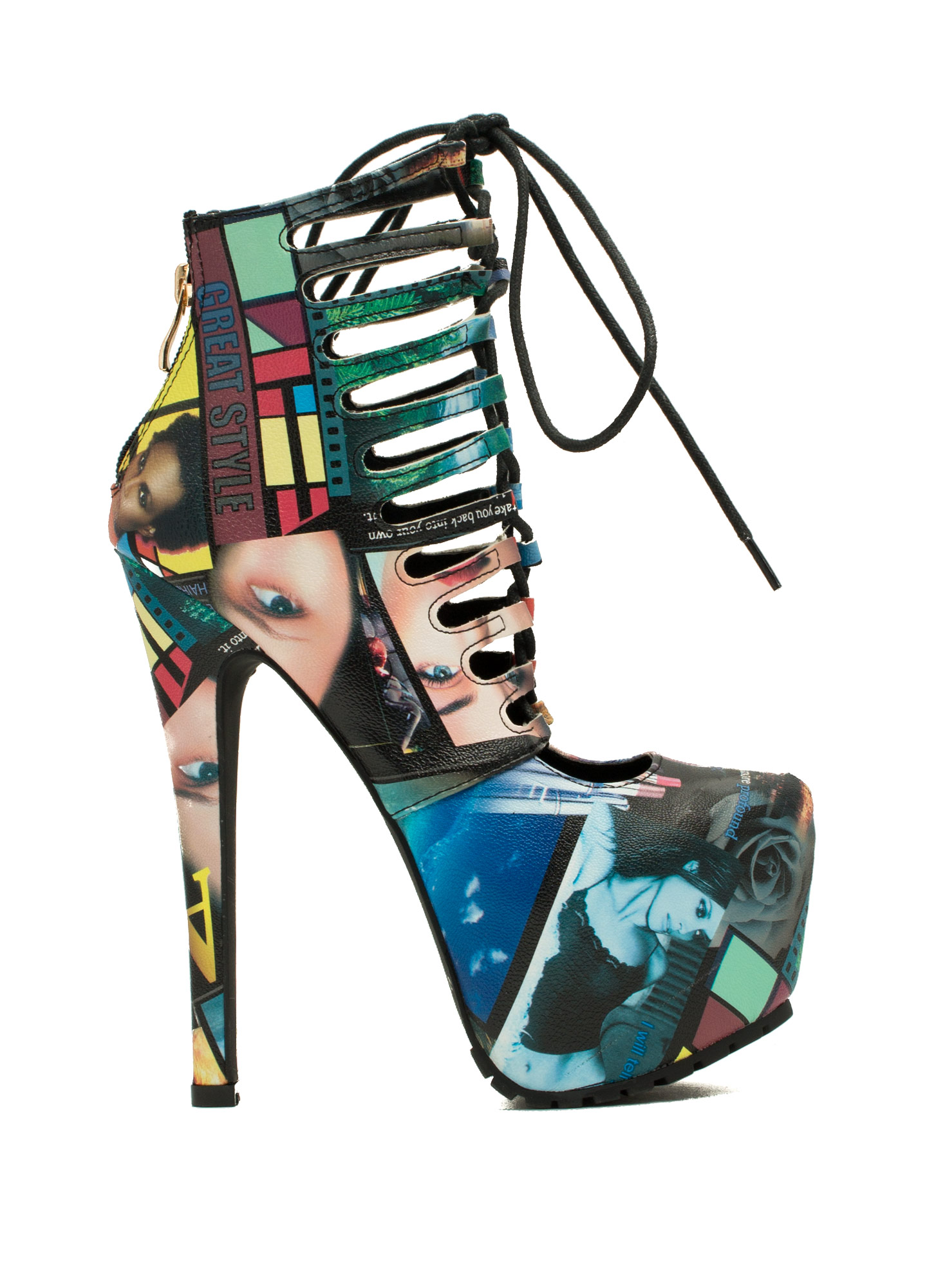 Caged Corset Booties MULTI