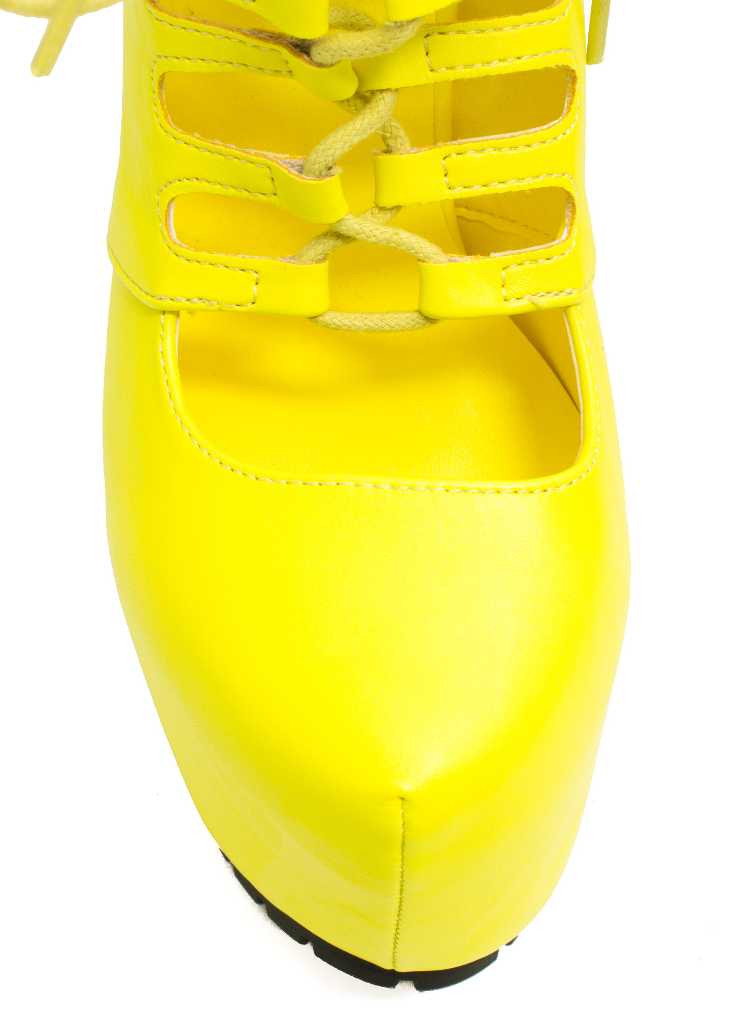 Caged Corset Booties NEONYELLOW (Final Sale)