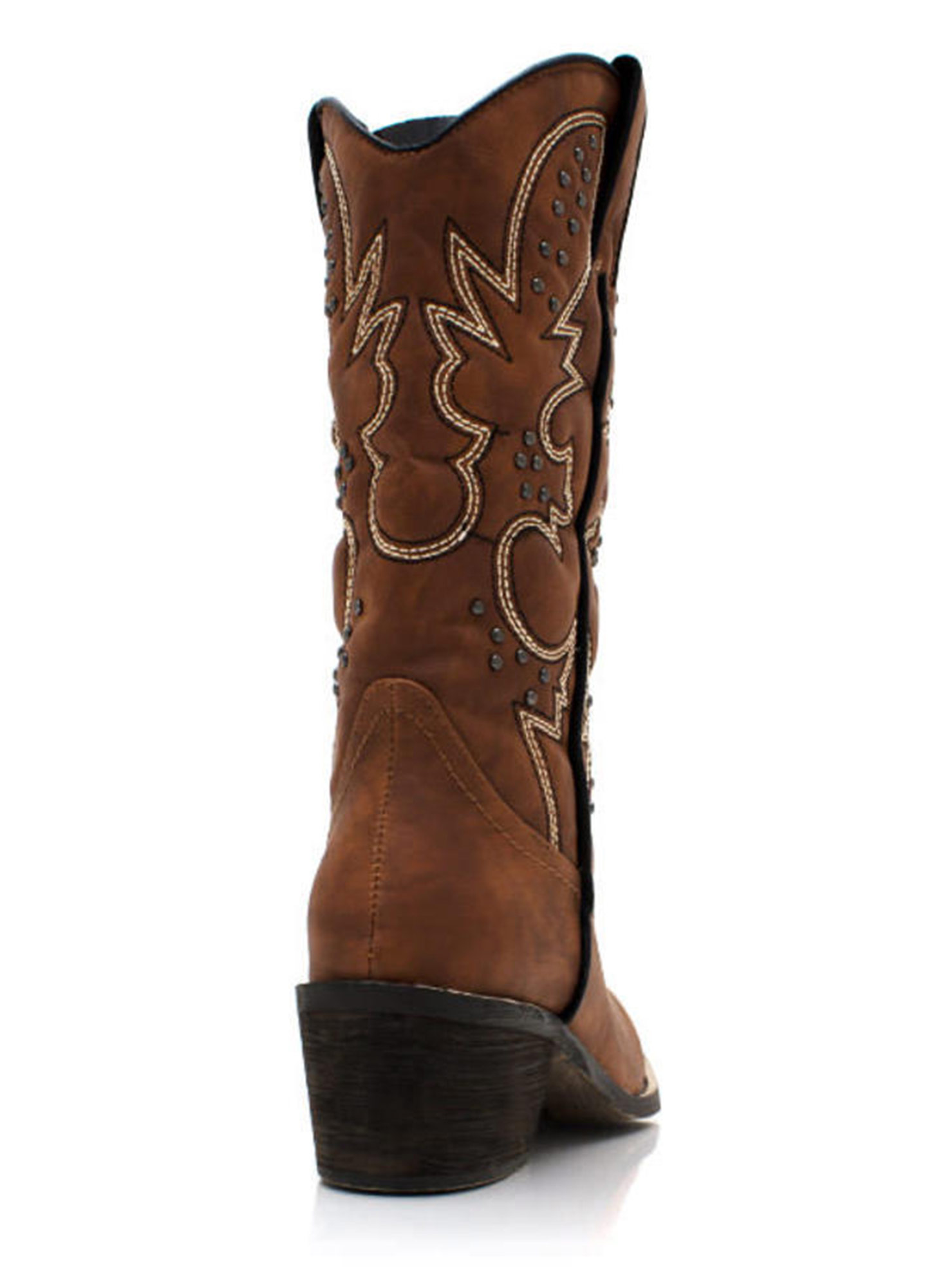 Get Stitches Studded Cowgirl Boots CHESTNUT (Final Sale)