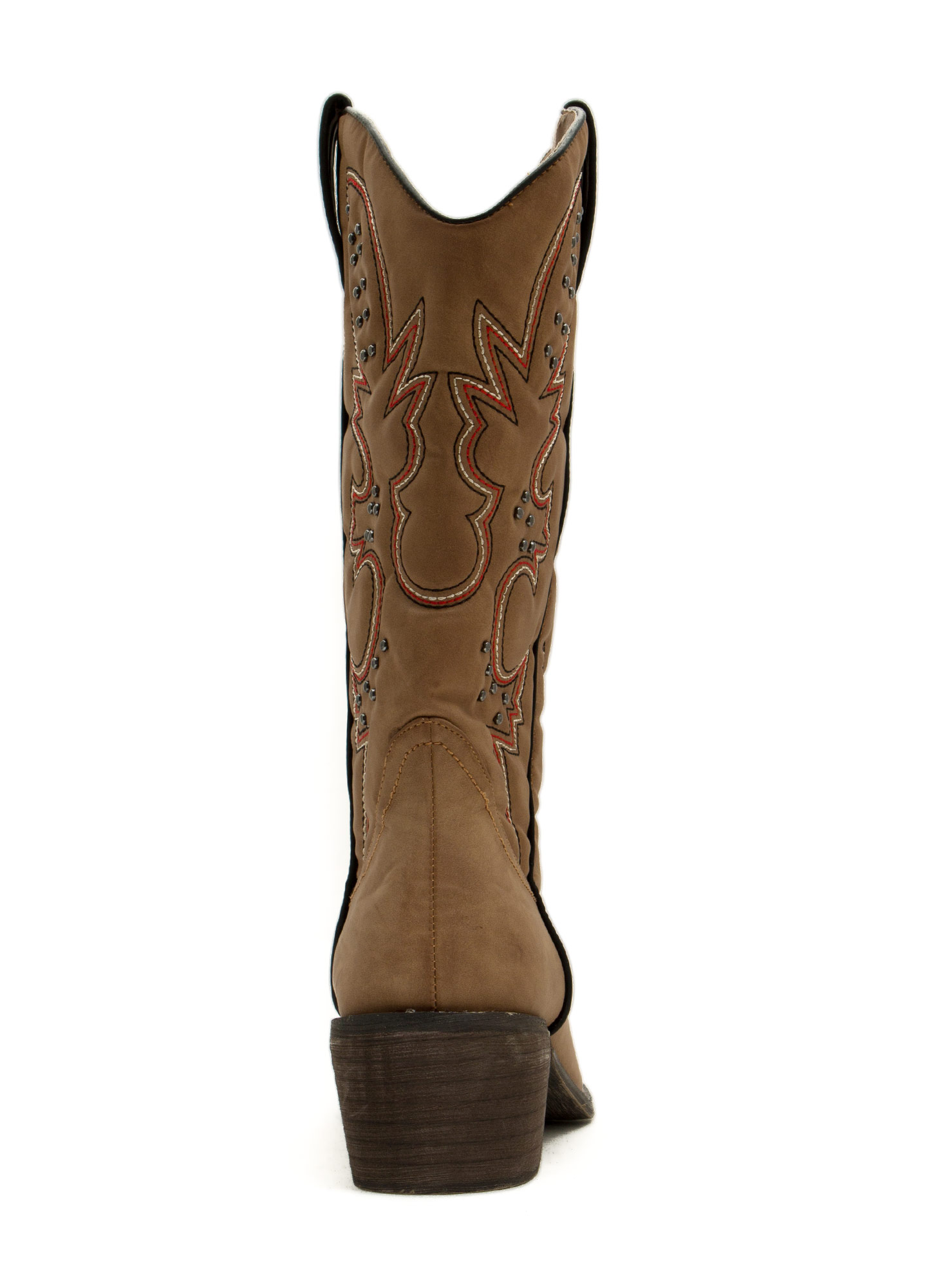 Get Stitches Studded Cowgirl Boots TAN (Final Sale)