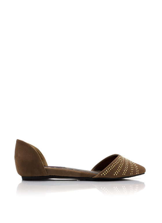 Twinkle Toes Pointy Flats TAUPE