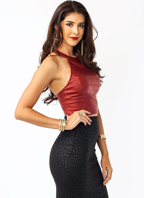 T Back Cropped Top RUBY